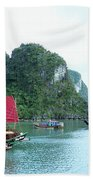 Halong Bay Sails 04 Beach Towel