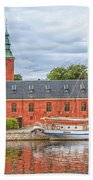Halstad Castle 03 Beach Towel