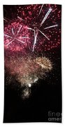 10715 Hamburg Winter Dom Fireworks Beach Towel