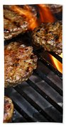 Hamburgers On Barbeque Beach Towel