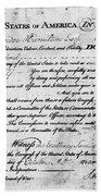 Hamilton: Appointment, 1777 Beach Towel