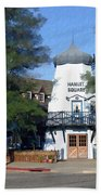 Hamlet Square Solvang California Beach Towel