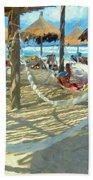 Hammocks And Palapas - Xel-ha Mexico Beach Towel