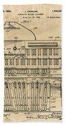 Hammond Organ Patent Beach Towel