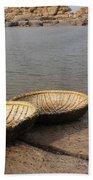 Hampi River Scenes Beach Towel
