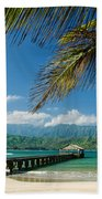 Hanalei Pier And Beach Beach Towel