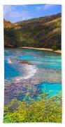 Hanauma Bay In Hawaii Beach Towel