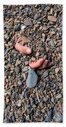 Hand In Gravel Beach Towel by Stephan Pietzko