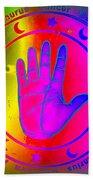 Hand Signs Beach Towel