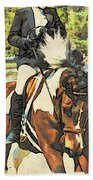 Hang On Tight To Your Painted Horse Beach Towel