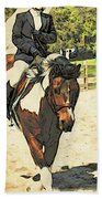 Hang On To Your Painted Horse Beach Towel