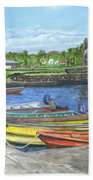 Hanga Roa Harbour Beach Towel
