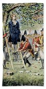 Hanging Of Nathan Hale Beach Towel