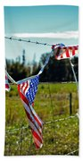 Hanging On - The American Spirit By William Patrick And Sharon Cummings Beach Sheet