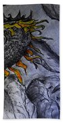 Hanging On To Life - Sunflower Beach Towel