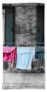 Hanging The Wash In Venice Italy Beach Towel