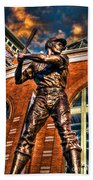 Hank Aaron In Hdr Beach Towel