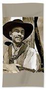 Hank Worden Publicity Photo Red River 1948-2008 Beach Towel