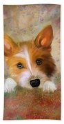 Hankie A Corgi And Westi Mix Cute Dog Beach Towel