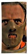 Hannibal Lecter Beach Towel