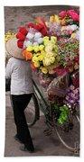 Hanoi Flowers 01 Beach Towel