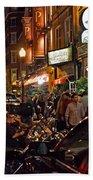 Hanover Street Nights - Boston Beach Towel