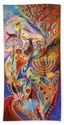 Hanukkah In Magic Garden Beach Sheet