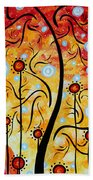 Happiness By Madart Beach Towel