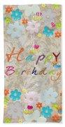 Happy Birthday 2 Beach Sheet