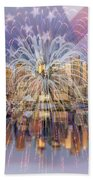 Happy Birthday America Beach Towel by Susan Candelario