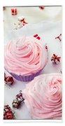 Happy Birthday Cupcakes Beach Towel