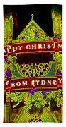 Happy Christmas From Sydney Beach Towel