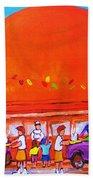 Happy Days At The Big  Orange Beach Towel
