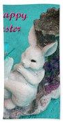 Happy Easter Card 6 Beach Towel