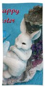 Happy Easter Card 7 Beach Towel
