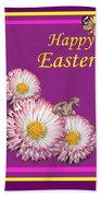 Happy Easter Hiding Bunny Beach Towel