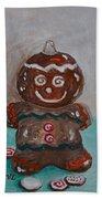 Happy Gingerbread Man Beach Towel