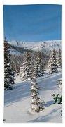 Happy Holidays - Winter Wonderland Beach Towel