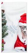 Xmas Holidays Greeting Card 108 Beach Towel