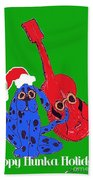 Happy Hunka Holiday Beach Towel