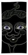 Happy Licorice Girl Beach Towel