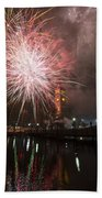 Happy New Year 2014 B Beach Towel