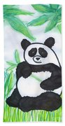 Happy Panda O.o. Beach Towel