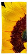 Happy Sunflower Beach Towel