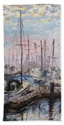 Harbor In Early Morning Beach Towel