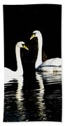 Harbor Swans Beach Towel