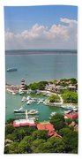 Harbor Town 3 In Hilton Head Beach Towel