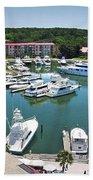 Harbor Town 7 In Hilton Head Beach Towel