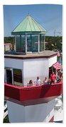 Harbor Town Lighthouse In Hilton Head Beach Towel