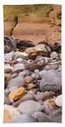 Harbour Seal On Pebble Beach Beach Towel